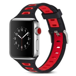 Wholesale Apple Rubber Band - 10 Colors Watch Band For Apple Smart Watch Strap Silicone Rubber Watches Bands Replacement 38 42mm