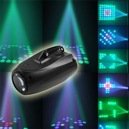 Wholesale laser lights for disco - 64 Led DJ Disco Light Sound-actived RGBW Stage Light Music Show for Party KTV Club Bar Effect Holiday laser lighting Mini plane