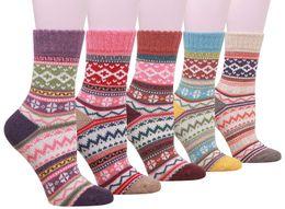 coppie di lana di lana Sconti Calze di lana calde da donna da 5 paia Calze da inverno di calze da donna Calze casual da maglia spesse vintage taglia 6-11