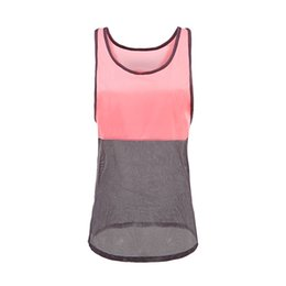 Wholesale Gym Clothes Womens L - Ayopanda 2017 Womens Contrast Patchwork Sport Workout Tank Top T-shirt Fitness Yoga Blouse Gym Clothes Quick Dry Running Vest