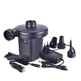 Wholesale gas bicycles wholesale - 12V Car Auto 3 Nozzles inflatable boat Air suction Pump gas-fill Air compressor Electric Air Pump for Beds Mattresses Toys
