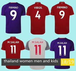Mohamed Salah soccer Jersey 2018 2019 Football kids kit SHAQIRI Shirt Keita  MANE women 18 19 VIRGIL Top Thailand MEN   kids set uniform. d1e170aad