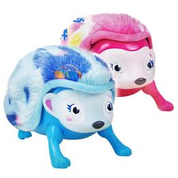 jouets électroniques interactifs Promotion Interactif Pet Hedgehog avec Multi-modes Lumière Capteur Son Light-up Yeux Nez Promenade Roll Headstand Jouet Électronique Pet Jouets T2I139