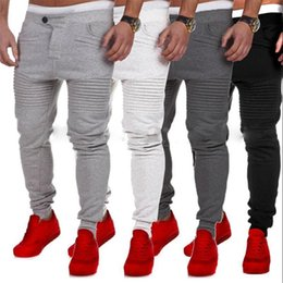 Wholesale heavyweight sweatpants - Track Pants Men Pants Sweatpants Cotton Blend Brushed Full Length Fly Pleated Casual Fitness Sportwear Active Spring Autumn Size S-3XL