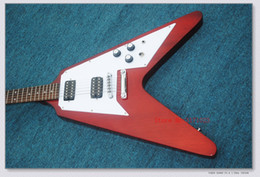 guitar body shapes NZ - The Wholesale-2018 New Brand Customized Black Flying V Shaped Electric Guitar with the Mahogany Body and Neck,Can be Customized