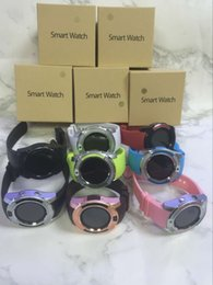 Wholesale Pet Camera Iphone - V8 Smartwatch Bluetooth Wathces With 0.3M Camera SIM And TF Card Watch For Samsung Note 7 Cellphone IOS Iphone Smartphone With Box