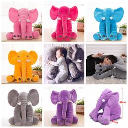 Wholesale Soft Plush Elephant Toy - Baby Sleeping Pillow Elephant toy Stuffed Giant 40cm Animal Plush Soft Cuddling Toy Baby Sleeping Soft Pillow Toy 6colors FFA131 50pcs