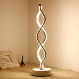 Creative Acrylique LED Lampe De Table Eye Protect Chambre Étude Lampe Chaleur Personnalité Moderne Simple Courbe De La Vague Creative Lampe ? partir de fabricateur