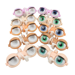 Wholesale Plastic Eyes For Toys - Blyth doll eyes accessories eye chips factory nude blyth doll white normal dark purple skin eyes for dolls DIY