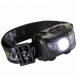 Wholesale Headlamp Led Q5 - Waterproof Fishing LED Headlights Super Light 5W Portable Headlamp For Outdoor Camping Running White Red Light Headlamps 13cr X