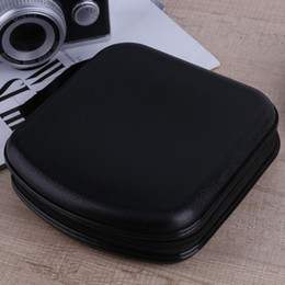 Wholesale Dvd Disc Holders - ALLOYSEED Plastic 38pcs Capacity Disc CD DVD VCD Wallet Storage Organizer Case Holder CD DVD Disc Storage Holder Carry Case Bags