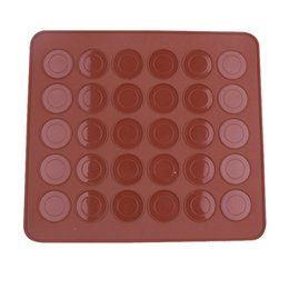 silicone circle mold Coupons - 30 Circle Macaron Silicone Mat Multifunction Dessert Muffin DIY Mold Nonstick Cake Baking Mould Practical Kitchen Tool Accessories 5 9ww YY