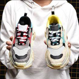 Wholesale men s soccer shoes - 2018 Luxury Triple-S Designer Low Sneakers Thick soles Boots Men Women Breathable Sneakers Unisex Casual Workout Gym Tennis Shoes