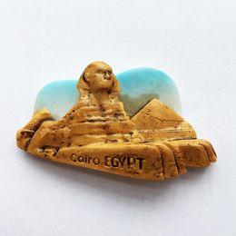 Wholesale magnetic promotion - Egypt Sphinx pyramid tourist souvenir magnet hand gift promotions