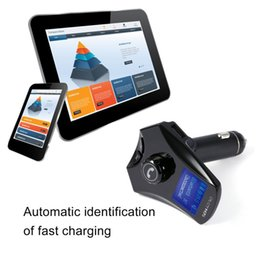 Wholesale fastest audio player - M7S Automobiles Bluetooth Car Kit Handsfree 5V 2.5A Dual USB Charging Fast Aux Audio Car MP3 Player FM Transmitter Playing Music