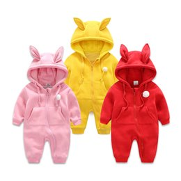 Wholesale Pink Coveralls - wholesale Spring and autumn baby long-sleeved coveralls a double layer