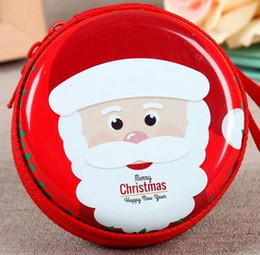 Wholesale Coin Box Design - new arrival 2018 christmas celebration convenient coin box earphone wire earing boutique multifunction box red design