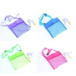 Wholesale Kids Collections - Colorful Portable Kids Sand Away Mesh Beach Bag Shell Collection Sandpit Toys Storage Children Beach Bag