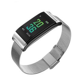 alarme de pouls Promotion Date Caméra Smart Bracelet Hommes Fréquence cardiaque Pulse Pression artérielle Calories imperméables Podomètre Réveil Smart Watch Femmes