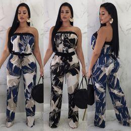2019 american hot lady American Hot Femmes Sexy Imprimer Combinaisons Barboteuses Femmes Lady Party Combinaison Slash Cou Body 2018 Automne Design american hot lady pas cher