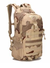 Bolsas militares online-Senderismo militar camuflaje táctico hombros trekking bolso ejército mochila al aire libre