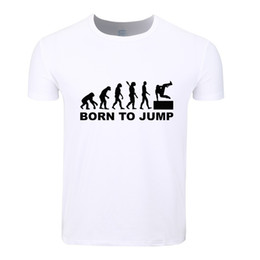 Wholesale Evolution Shorts - Asian Size Men Print Evolution Of Parkour Born To Jump Fashion T-shirt O-Neck Short Sleeves Summer Casual Homme T-shirt HCP4085