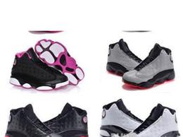 2019 sapatas de bebê da vaca Designer de bebê 13 crianças tênis de basquete juvenil das crianças athletic 13 s calçados esportivos para menino meninas shoes frete grátis tamanho: 28-35 desconto sapatas de bebê da vaca
