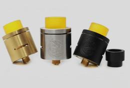 Elektronik sigara CSMNT / cosmonauta rda clon material barato vape atomizador 24mm oro negro color plata con punta de goteo PEI desde fabricantes