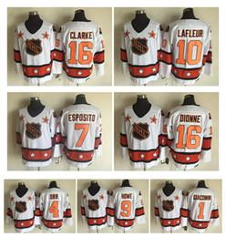 Wholesale Guys Nylon - 1975 All Star Hockey Jerseys 9 Gordie Howe 4 Bobby Orr 16 Bobby Clarke 10 Guy Lafleur 16 Marcel Dionne 7 Tony Esposito 1 Eddie Giacomin