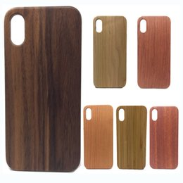 Wholesale Nature Shell - Real Wood Case For iPhone X 8 7 6 6S Plus Cover Nature Carved Wooden Bamboo Wooden+PC Case For iPhone 5 5S 5SE Shell