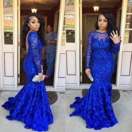 Mükemmel Mavi Gül Tren Mermaid Abiye Backless Sequins Dantel Vestidos De Dresses Parti Elbise Balo Örgün Pageant Ünlü Abiye nereden payet mavi tren elbisesi tedarikçiler