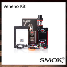 Wholesale Refill Leads - Smok Veneno Kit 225W Stylish LED Lights With 12 Color Options Mod 5ml TFV8 Big Baby Light Edition Tank Top Refill System 100% Origin