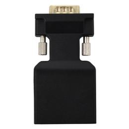 surveillance vidéo audio Promotion Vga vers HDMI Adaptateur Convertisseur VGA Mâle vers HDMI Femelle Câble Audio Convertisseur Vidéo 1080P pour PC Ordinateur Portable Téléviseur Moniteur Projecteur