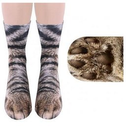 Wholesale Paw Foot - Adults Animal Paw feet Printed socks Unisex Adult Animal Crew Creative 3D print Sports Children Digital printing Simulation Socks 10 Colors