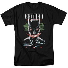 Wholesale black animated - Batman Beyond Animated TV Show DEFACED Joker Smile Adult T-Shirt All Sizes