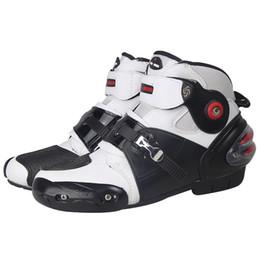 Moto Stivali antiscivolo Stivali professionali SPEED motobotinki Stivali da corsa Motocross scarpe da moto Stivali da moto da pantofole di strada fornitori