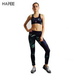 Wholesale Wholesale Training Bras - 2017 2 Pieces Women Print Fitness Yoga Set Bra Cropped Tops & Trousers Sport Set Gym Clothes Sport wear Training Suit