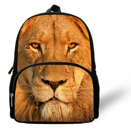 12 Inch Popular Printing Backpack For School Cartoon Cute Animal Bag Gift Kids Lion Children Boys Birthday Discount Gifts Kid