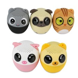 Wholesale Cute Dog Usb - Bluetooth Speakers Wireless Cute Animal panda dog Sound Speaker Portable Clear Voice Audio Player TF Card USB for Mobile PC