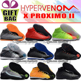Wholesale cheap low heels shoes - New Cheap Hypervenom Phantom III DF ACC Men Soccer Shoes IC TF Hypervenom Phantom Indoor Soccer Cleats Turf Football Boots Free Shipping