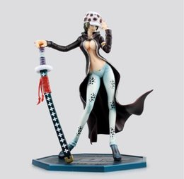 Wholesale One Piece Action Figure Pop - One Piece Action Figure Trafalgar Law Girl Ver PVC Figure 220mm POP One Piece Lady Law Death Doctor Anime Sexy Toys Figure