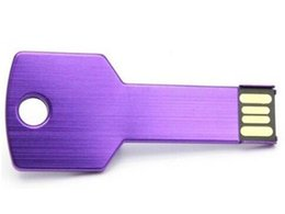 Wholesale 32gb memory key - 2018 Key Style colorful 100% real capacity 32gb USB 2.0 flash drives Memory Sticks Pen Drives pendrives retail package free fast shipping