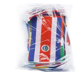 Deutschland Fußballfans 2018, russische Weltcup-Flaggen, Spitzenfahnen-Flaggen der Flaggen-32, Markierungsfahnen-Stelle der Weltcup-2018 Versorgung