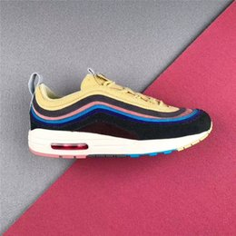 Wholesale accessories for shoes - Authentic 2018 97 Sean Wotherspoon 1 97 VF SW Hybrid Running Shoes Sneakers For Men Women With Box Accessories And Dustbag AJ4219-400