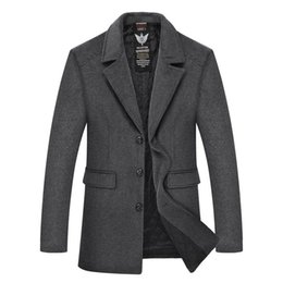 US $35.69 15% OFF|New Fashion Trench Coat Men Long Coat Winter Famous Brand Mens Overcoat Double Breasted Slim Fit Men Trench Coat Plus Size|mens