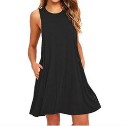 NUOVA estate europea e americana delle donne nuova maglia di colore solido vestito vest vestitino di colore solido caldo da