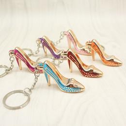porte-clés chaussures femmes or plaque acrylique bonbons à talons hauts porte-clés anneau sac à main pendentif sacs de voiture porte-anneau porte-clés porte-clés pour les cadeaux ? partir de fabricateur