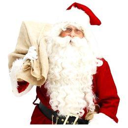 2019 barba peruca santa claus Papai Noel Peruca + Barba Set Costume Acessório Adulto Natal mascote Do Vestido De Fantasia desconto barba peruca santa claus