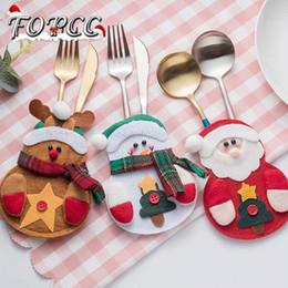 Yeni 3 ADET / TAKıM Kardan Adam Santa Çatal Bıçak Seti Tutucu Cepler Masa Yemeği Dekor Noel Süsleme Yeni Yıl Noel Süslemeleri Ev Için nereden