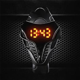 orologi da polso digitali Sconti Zegarki Meskie Nuovo LED Student Watch per Boy Girl Fashion Digital Watches Design unico in silicone con anello a mano da polso regalo caldo